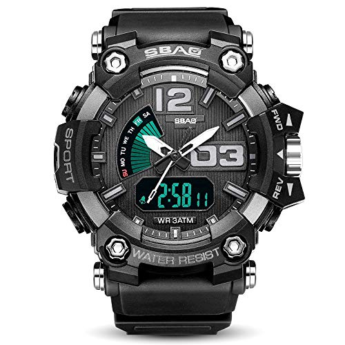 a52f4816dd1e SANGQU SBAO Men s Outdoor Sports Waterproof Military Calendar Display Multi  Function Pointer Electronic Watch (E