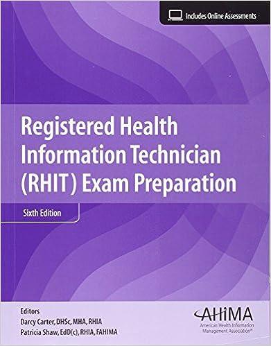 Registered health information technician rhit exam preparation registered health information technician rhit exam preparation 6th ed edition fandeluxe Gallery