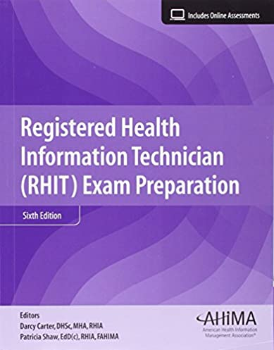 registered health information technician rhit exam preparation rh amazon com RHIA Online Practice Exam AHIMA Chda