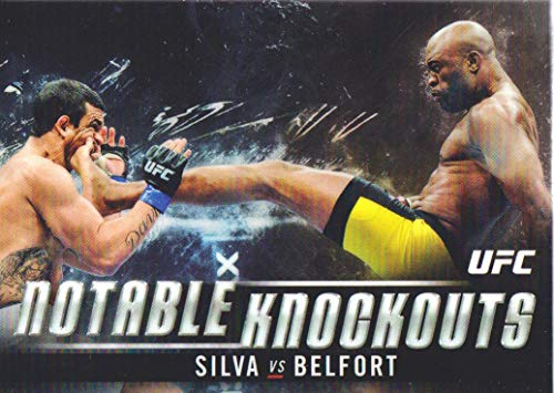 2018 Topps Chrome UFC Notable Knockouts #NK-AS Anderson Silva vs Vitor Belfort