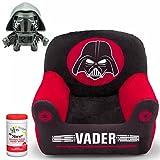 Delta Disney Star Wars Darth Vader Children's Inflatable Club Chair with Velour Cover and Star Wars BulbBotz Kylo Ren Alarm Clock with Bonus Kids Hypoallergenic Antibacterial Hand Wipes