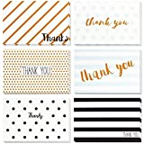 Health & Personal Care : Thank You Cards - 48-Count Thank You Notes, Bulk Thank You Cards Set - Blank on The Inside, Retro Designs - Includes Thank You Cards and Envelopes, 4 x 6 Inches