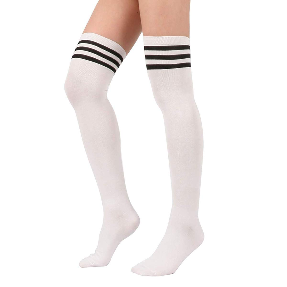 b3f9aaa8161 Material  The striped knee high socks are made from 90% Cotton