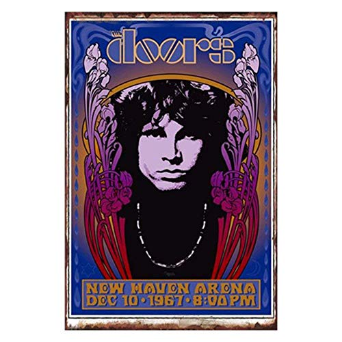 Tin speaking Posters of Rock Bands - The Doors Poster Tin Signs Vintage Wall Decor for Cafe Bar Pub Decor 8x12 inches