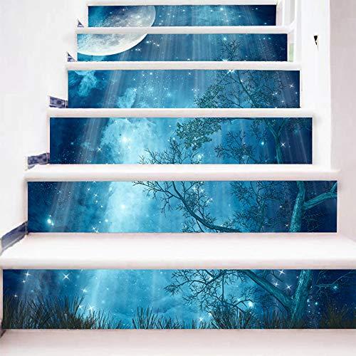 MAOYYM1 18 * 100 Cm Creativo DIY 3D Escaleras Pegatinas Cascada Escaleras Pegatinas Piso Etiqueta De La Pared A Prueba De Agua Decoración del Hogar: Amazon.es: Hogar