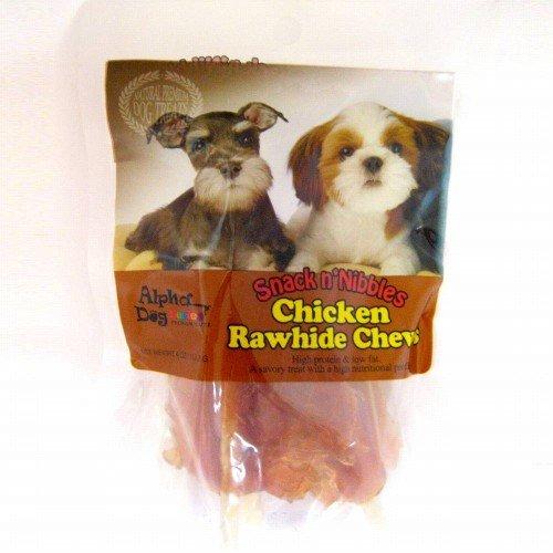 Cheap Alpha Dog Series Single 4oz. Chicken Treats (Chicken Rawhide Chews)