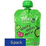 Ella's Kitchen 4+ Months Organic Baby Food, Apples Apples Apples, 2.5 oz. (Pack of 6)
