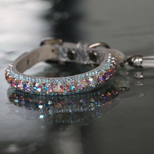 Rainbow Aurora And Light Blue Sapphire Crystal Rhinestones