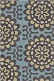 Chandra Rugs Amy Butler Blue Wallflower Rug 5' x 7'6""