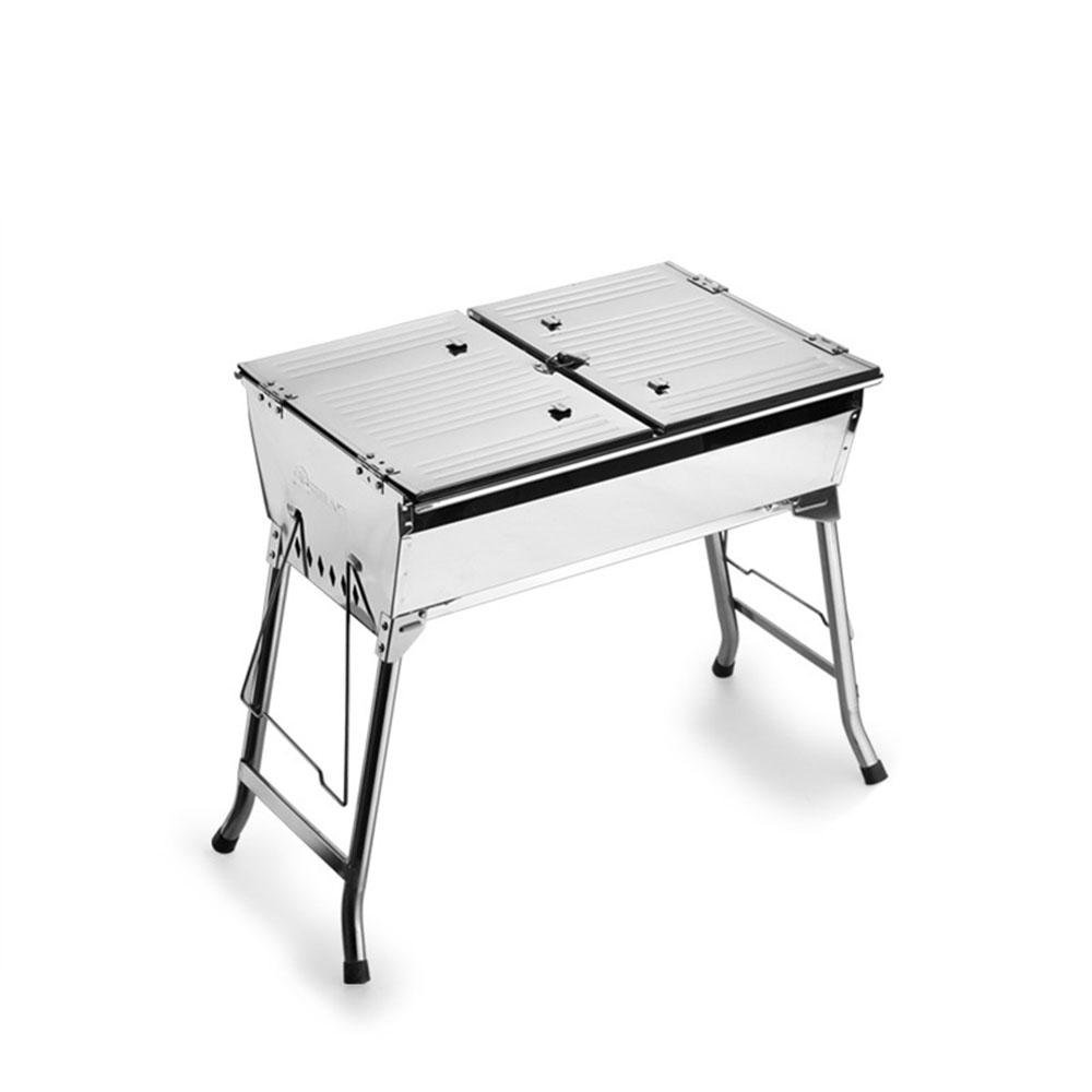 Faltung tragbare Carbon Outdoor grill Barbecue GRILL Holzkohle Ofen dicke Edelstahl