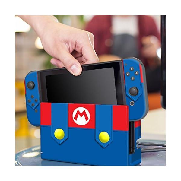 Controller Gear Nintendo Switch Skin & Screen Protector Set - Super Mario - Mario's Outfit - Nintendo Switch 6