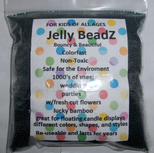 8oz -Almost 15,000 Jelly BeadZ® Water Bead Gel - PURPLE- Heat Sealed Bag- Water Pearls Gel Beads- Wedding & Event Centerpieces