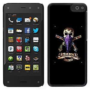 LECELL--Funda protectora / Cubierta / Piel For Amazon Fire Phone -- Gangster Skull Pañuelo Armas Negro --