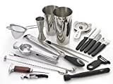 Barfly M37102 Cocktail Set, 12-Piece Deluxe, Stainless