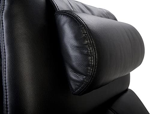 Octane Seating Recliner Headrest Pillow Neck Support - Bonded Black Leather