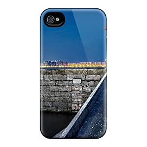 Fashion Protective Wonderful Lighthouse Across From The City Case Cover For Iphone 4/4s