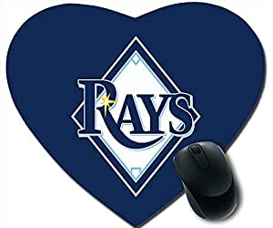 custom and diy mouse pad Tampa Bay Rays logo blue background by jamescurryshop by supermalls