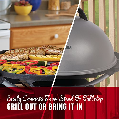George Foreman 15-Serving Indoor/Outdoor Electric Grill, Silver, GFO240S