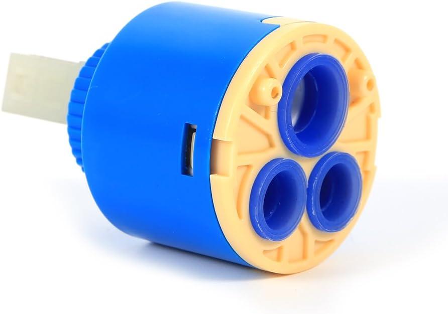 Asixx 35/40mm Cartucho de Cerámica, Cartucho para Grifo,de Material Plástico PP,para Grifería de Cocina,Grifería de Baño,Etc(40mm)