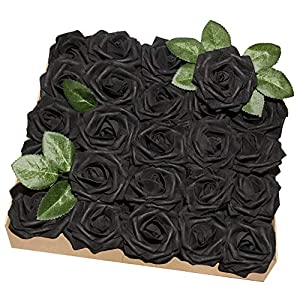 YINGSHENG Fake Roses Artificial Flower Rose w/Stem 51