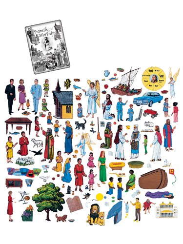 Family Home Worship Felt Figures for Flannel Boards + Manual- You Need to Cut Out
