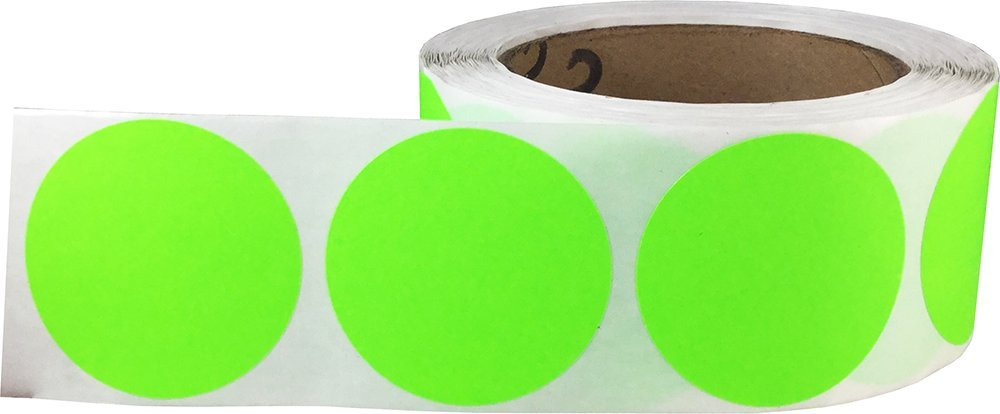 500 Etichette su Rotolo Viola Lucido Cerchio Punto Adesivi 51 mm 2 Pollici Rotondo