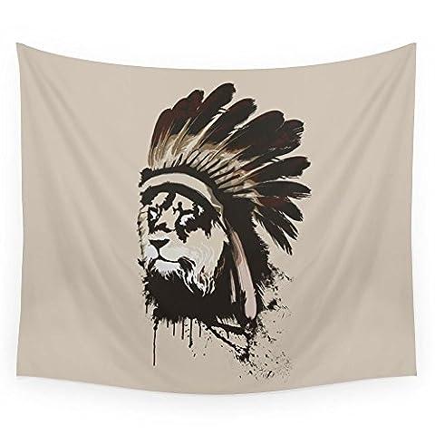 Society6 Lion Headdress Wall Tapestry Small: 51
