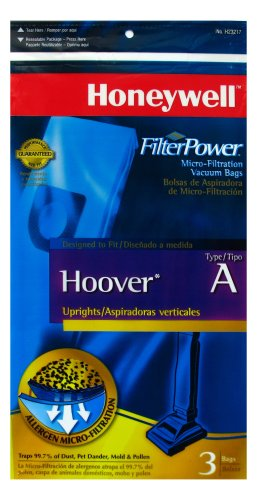 Honeywell H23217 Micro-Filtrations Bags for Hoover Concept One and Other Uprights