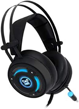 Works for PC Notebook with USB Port Comfortable Leather Earbuds NOX NX-2S Virtual 7.1 Channel Battlegrounds Gaming Headset 0.61lb RGB LED Light