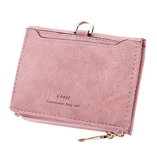 Simple Women Clutch Purses Coin Card Pink Leather Wallets Pocket Small Zipper Domybest PU 4qwnxXZAz5