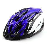 eDealMax adulti 18 Buche rimovibile visiera esterna Della protezione di Sport, Cappello portatile, Ciclismo regolabile in bicicletta Casco blu Zaffiro