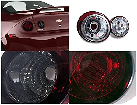 Right Pair Spec-D Tuning Smoke Lens Tail Lights for 2005-2010 Chevy Cobalt 2Dr Coupe Taillights Assembly Left
