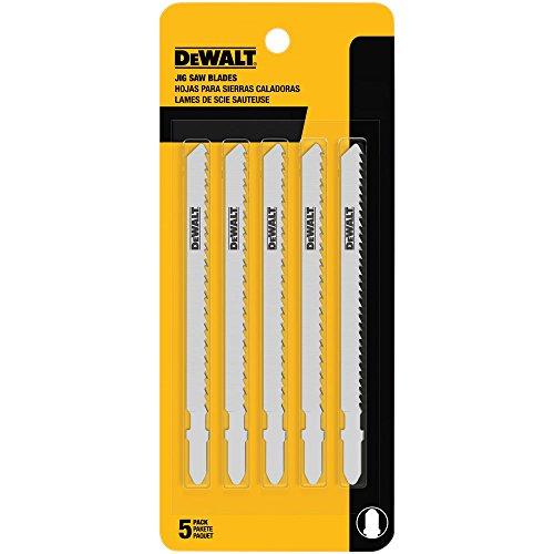 Dewalt DW3753-5 4 inch 6 TPI Wood Cutting T-Shank Jig Saw Blades