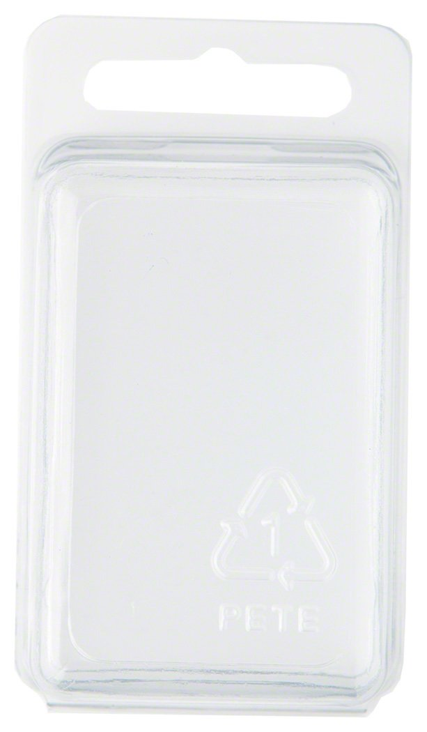 Collecting Warehouse Clear Plastic Clamshell Package//Storage Container Pack of 10 2.31 H x 1.5 W x 1.25 D