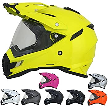 AFX ADULT FX-41DS Dual Sport Fuchsia Motorcycle Helmet M Medium