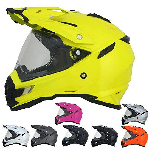 AFX ADULT FX-41DS Dual Sport Fuchsia Motorcycle Helmet M Medium