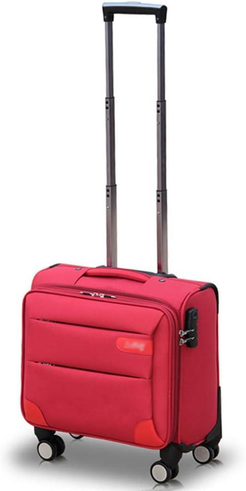 L@LILI Conjuntos de Equipaje Estuche de Trolley de Negocios Oxford Cloth Flight Attendant Boarding Suitcase Maletas pequeñas para Hombres y Mujeres Pueden Estar en el avión,C,35L