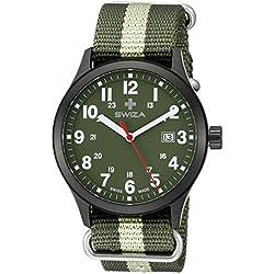 Swiza Men's WAT.0251.1102 Kretos Analog Display Swiss Quartz Green Watch