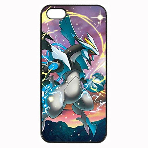 Price comparison product image Iphone5 / SE [Help Big] TPU Rubber Black Case Neverfade Scratchproof Case Black iPhone 5 / 5s / SE Case -Charizard casting a spell - Pokemon