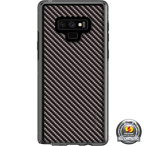 Limited Edition Customized Prints by Ego Tactical Over a Pelican Adventurer Case for Samsung Galaxy Note 9 - Black Carbon Fiber ()