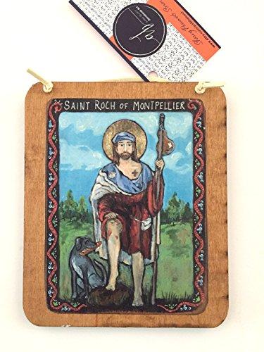 St Roch the patron saint of Dog Lovers by Ann Burt Devotional Art