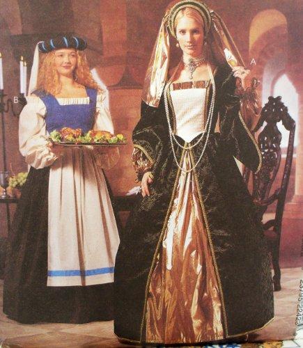 Mccalls Renaissance Costume Patterns (OOP McCall's Renaissance Costume Pattern 2242. Misses Szs 14;16;18 Peasant Blouse; Bodice; Skirt & Underskirt; Headpiece; Apron; Veil by McCall's)
