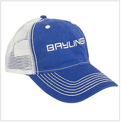 Bayliner Boats Unstructured Mesh Back Cap Hat Royal & White