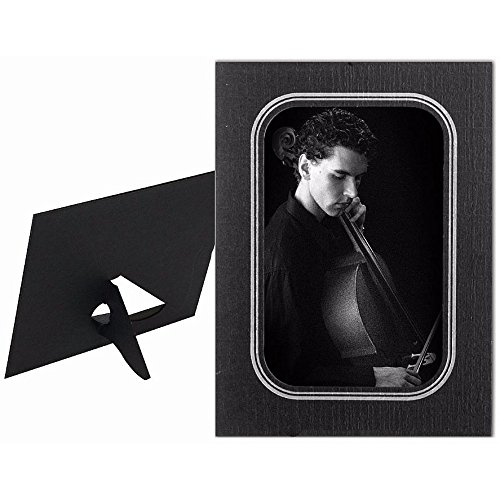 HICKORY 8x10 dual easel cardstock frame Black w/silver foil sold in 10's - (Hickory Easels)
