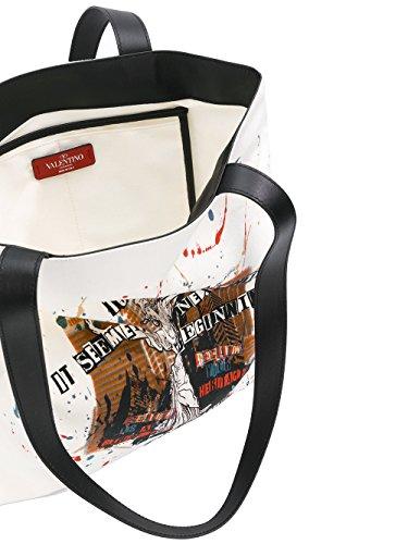 Valentino Garavani Borsa Shopping Uomo NY0B0613IBI0AN Pelle Bianco