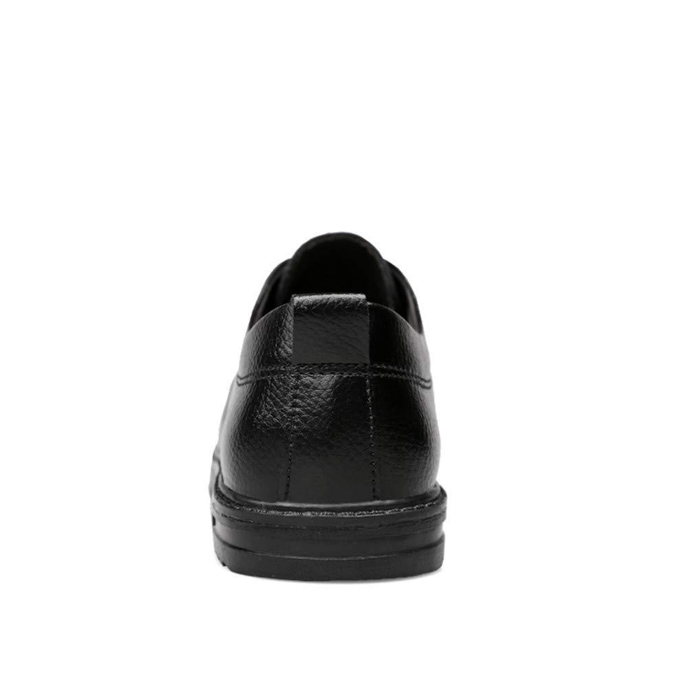 AFCITY Elegante Formelle Schuhe Einfache Klassische Geschäfts Oxford Runde Runde Runde Zehe Formale Schuhe Männer Mode Schuhe Hochzeit (Farbe : Schwarz, Größe : 47 EU) Schwarz b48478