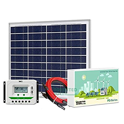 Unlimited Solar P3 Series 55 Watt 12 Volt Off-Grid Solar Panel Kit