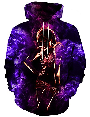 Yasswete Unisex Cool Hoodies Personalized Print Pullover Outwear M