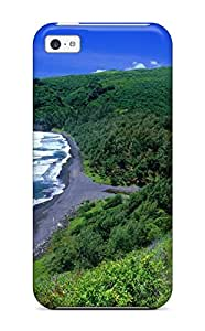 New Style durable Protection Case Cover For Iphone 5c(pololu Valley Hawaii)