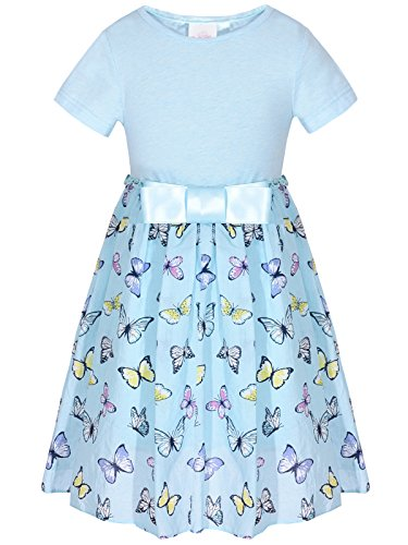 Bonny Billy Big Girls School Dresses Butterfly Clothing for Teens 7-16 Light (Butterfly Long Dress)